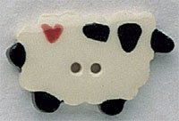 86053 - Sheep With Heart 1 1/8in x 3/4in - 1 per pkg